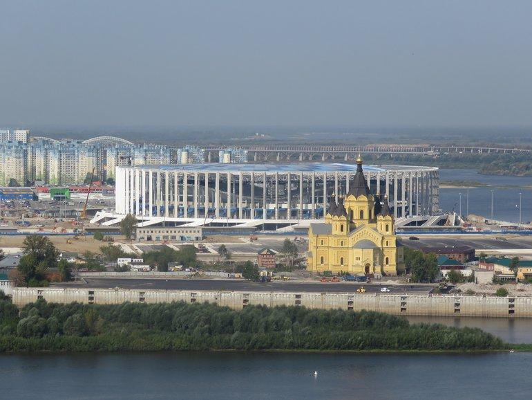набережная в Нижнем Новгороде